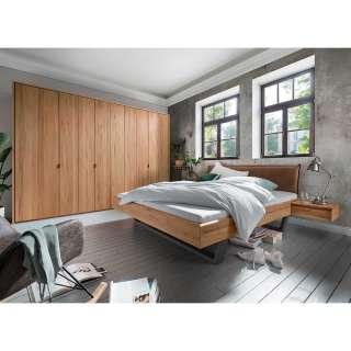 Schlafzimmer Möbel in Kernbuche Massivholz Industry und Loft Stil (vierteilig)