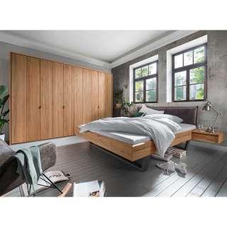 Schlafzimmer Kombination in Kernbuche Massivholz und Anthrazit modern (vierteilig)