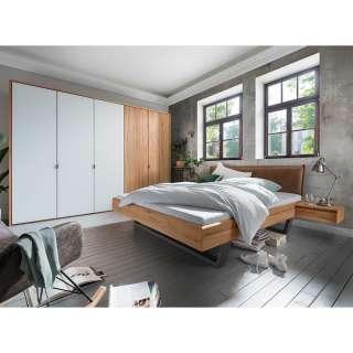 Schlafzimmer Set aus Kernbuche Massivholz geölt Industry Stil (vierteilig)