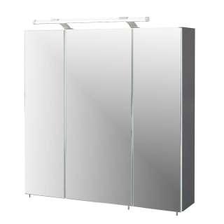 Badezimmer Spiegelschrank in Anthrazit LED Beleuchtung