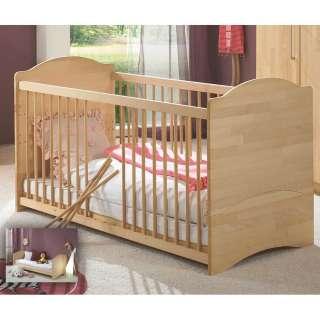 Baby Bett aus Buche Massivholz Umbauseiten