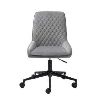 Schreibtischstuhl in Grau und Schwarz höhenverstellbarem Sitz