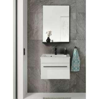 Waschplatz Set in Weiß Hochglanz Gäste WC (zweiteilig)