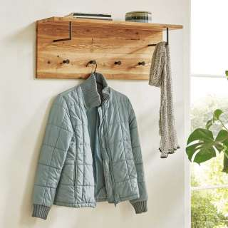 Garderobe Massivholz aus Eiche geölt Hutablage und Stangen