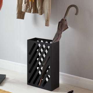 Regenschirmständer aus Metall in Schwarz modernem Design