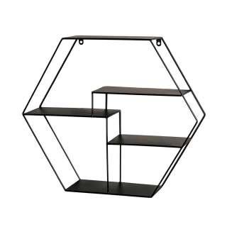 Sechseckiges Regal aus Metall Industry und Loft Stil
