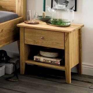 Nachttisch Schrank aus Wildeiche Massivholz Oberfläche geölt