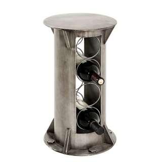 Industry Weinregal aus Metall runder Form