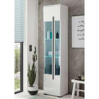 Badezimmer Vitrine in Weiß 1 Glastür