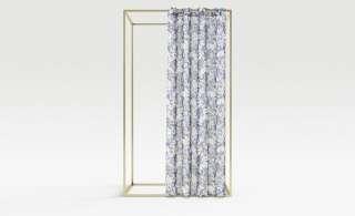 como Ösenschal  Floral ¦ blau ¦ 100% Polyester Gardinen & Vorhänge > Gardinen & Fertigstore > Ösenschals - Höffner