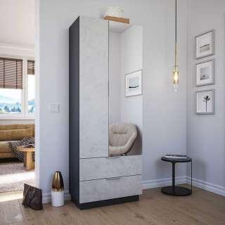 Dielen Schuhschrank mit Spiegeltür zwei Schubladen