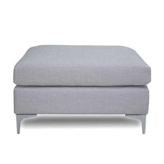 Couch Hocker in Blaugrau Webstoff und Metall