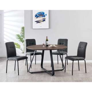 Essplatzgruppe mt rundem Tisch vier Sitzplätzen (fünfteilig)