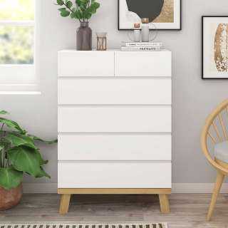 Stauraum Kommode mit sechs Schubladen Skandi Design