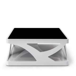 Designtisch für Wohnzimmer Weiß Hochglanz & Schwarz