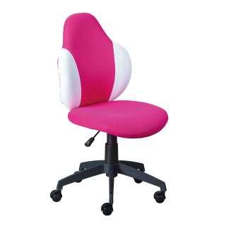 Kinderstuhl Schreibtisch in Pink und Weiß höhenverstellbar