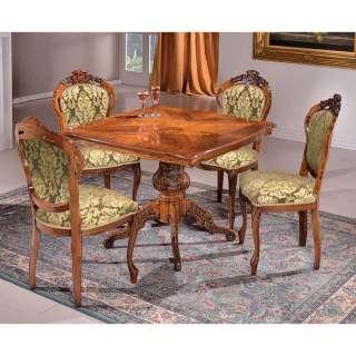 Esszimmermöbelset mit hoher Lehne Barockstil (fünfteilig)