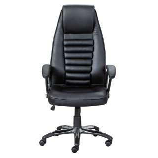Chef Sessel schwarzer Kunstlederbezug höhenverstellbarem Sitz