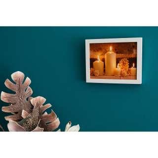 home24 LED-Wandbild Weiße Kerzen
