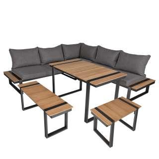 home24 Lounge-Eckgruppe Belmira (6-teilig)