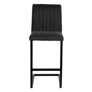 Hoher Bar Stuhl mit Stoff Bezug Anthrazit