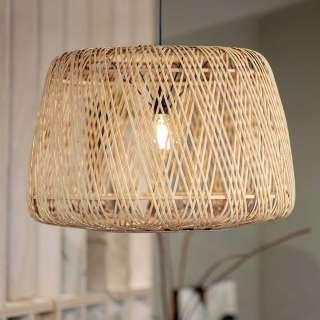 Geflecht Hängelampe aus Bambus Beige