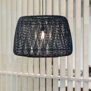 Bambus Hängelampe in Schwarz Skandi Design