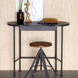 Kleiner Schreibtisch mit Tischplatte in Nierenform Schwarz