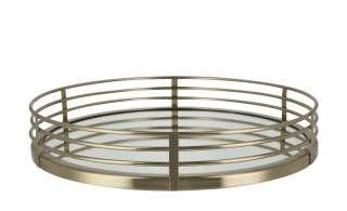 Spiegeltablett  Cita Maass ¦ gold ¦ Glas , Stahl, MDF Ø: 35 Küchenzubehör & Helfer > Tabletts & Etageren - Höffner