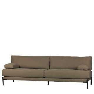 Hochwertige Wohnzimmercouch mit Bezug aus Canvas Khaki
