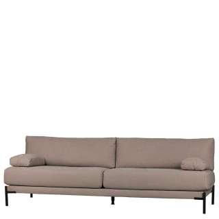 Canvas Sofa Bezug in Mauve Federkern