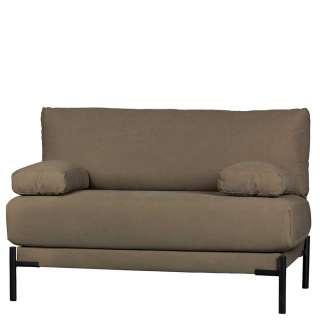 Zweier Sofa in Khaki und Schwarz Canvas Bezug