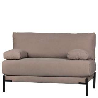 Zweisitzer Sofa in Mauve und Schwarz Canvas Bezug