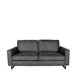 Modernes Lounge Sofa in Anthrazit Microfaser 166 cm breit