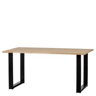 Esszimmer Tisch Eiche naturbelassen Metall Bügelgestell