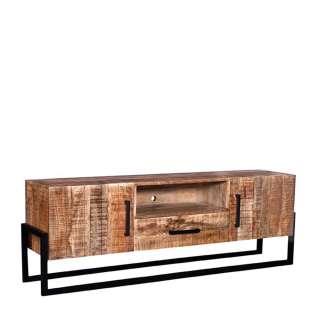 TV Lowboard aus Mangobaum Massivholz Industry und Loft Stil