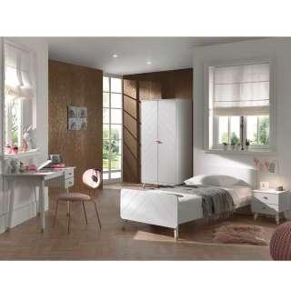 Weißes Mädchenzimmer mit Schreibtisch Schrank (vierteilig)