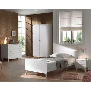Mädchen Schlafzimmer in Weiß & Goldfarben Schrank (vierteilig)