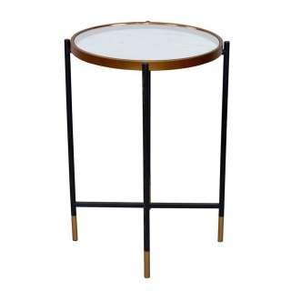 Runder Beistelltisch in modernem Design Spiegelglas Platte