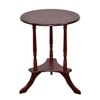 Klassischer Telefontisch in Kirschbaumfarben runder Tischplatte