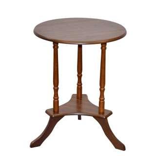 Klassischer Beistelltisch in Nussbaumfarben runder Tischplatte