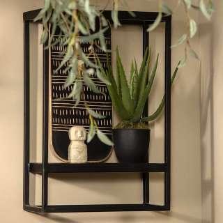 Wandhängeregale in Schwarz aus Metall modernes Design (2er Set)
