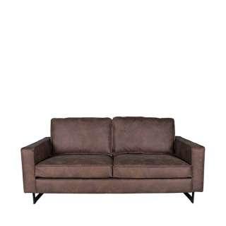 Wohnzimmer Sofa in Braun Microfaser Armlehnen