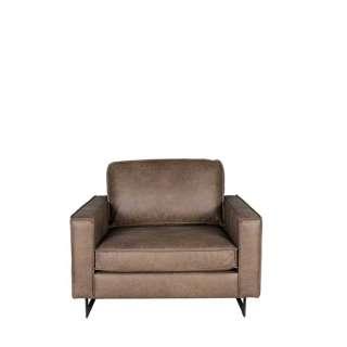 Lounge Sessel in Taupe Microfaser Metall Bügelgestell in Schwarz