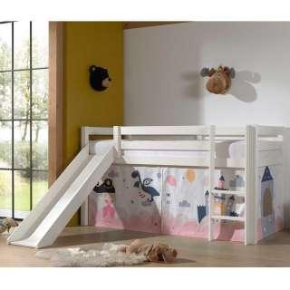 Kinder Spielbett in Weiß Vorhang mit Prinzessin Motiv