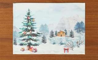 LAVIDA Platzset  Weihnachtslandschaft ¦ weiß ¦ Canvas (100% Polyester) Heimtextilien > Tischwäsche > Platzsets - Höffner
