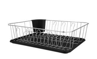 Geschirrabtropfständer, 2-teilig ¦ silber ¦ Kunststoff, verchromter Draht Küchenzubehör & Helfer > Küchenhelfer - Höffner