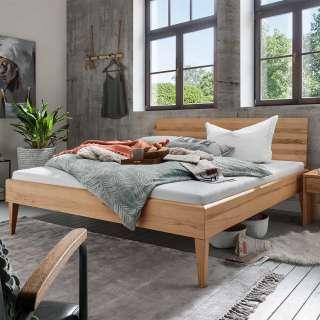 Kernbuche Doppelbett aus Massivholz 45 cm Einstiegshöhe