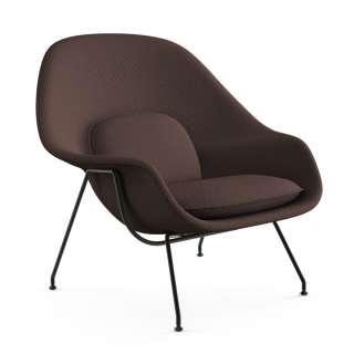Knoll International - Saarinen Womb Sessel - Relax - Cato Brown  - Daunen-Füllung - Gestell schwarz - indoor