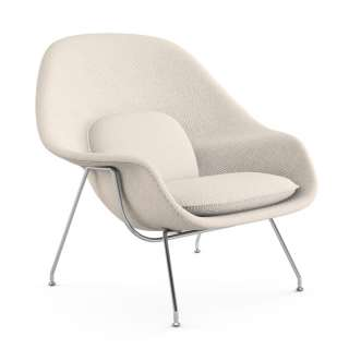 Knoll International - Saarinen Womb Sessel - Standard - Cato Natural - mit Kissen - indoor